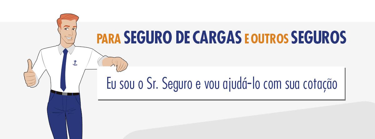 Banner para selecionar Atendimento Sr. Seguro: cotação de seguro de carga ou outros seguros